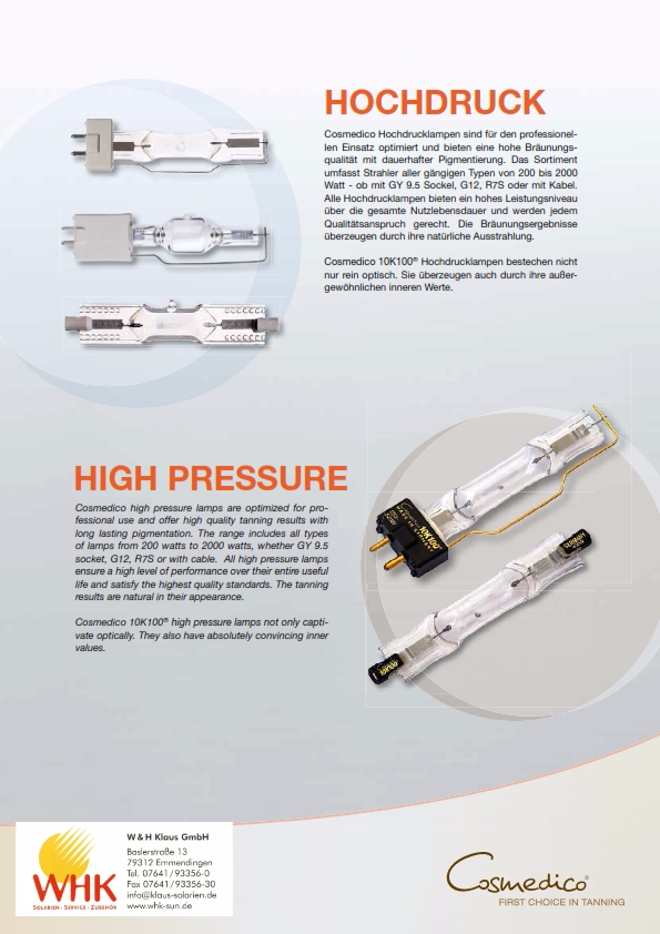 Cosmedico Hochdrucklampen