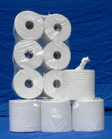 Papierrollen, saugfähig, weiß und fusselfrei, auch 2-lagig erhältlich!