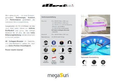 megaSun iBed alpha deluxe Datenblatt